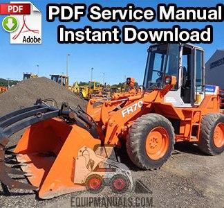 Fiat Allis FR70 Wheel Loader Service Manual