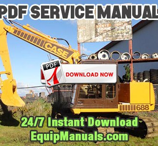 Case 688 Crawler Excavator Service Manual