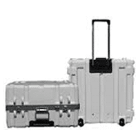 NEW! Rolling Shipping Case With Telescoping Handles and Recessed Wheels.