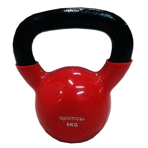 Pesa Rusa Kettlebell Mancuerna Sportiva 6kg Encauchetada Gym