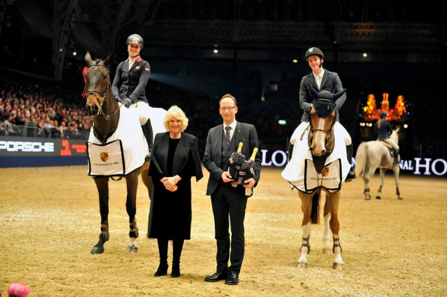 Holly Smith riding Quality Old Joker and Christopher Megahey riding Seapatrick Cruise Cavalier joint puissance winners