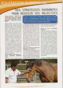 1ere page equihorse et news parle de l'équitation fuionnée