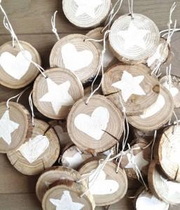 wood decorations xmas