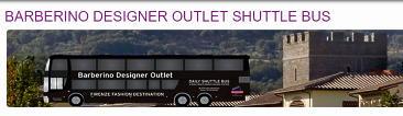 BARBERINO DESIGNER OUTLET(バルベリーノ・デザイナー・アウトレット)のシャトルバス