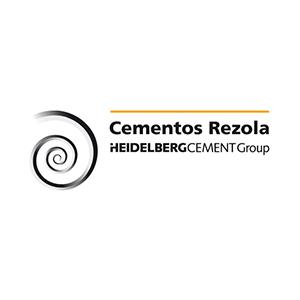 Logotipo de Cementos Rezola