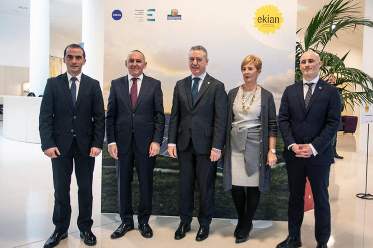 El Ente Vasco de la Energía y KREAN impulsan EKIAN, el mayor parque solar fotovoltaico de Euskadi