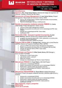 Jornada Eraikal sobre Metodologías y Sistemas de gestión de proyectos @ Sala 309 de Bilbao Berrikuntza Faktoria