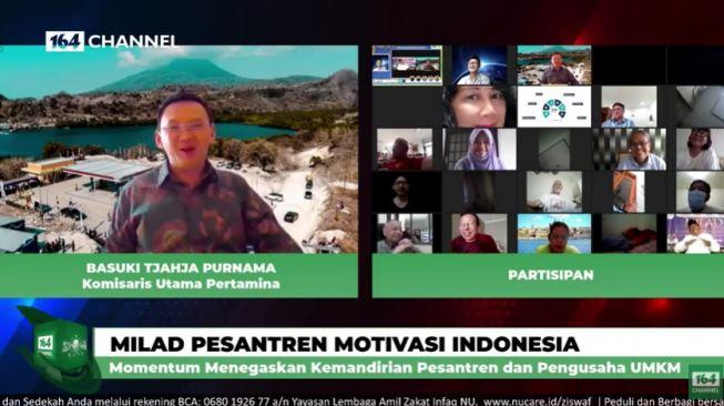 Ahok di acara milad pesantren motivasi Indonesia (YouTube).