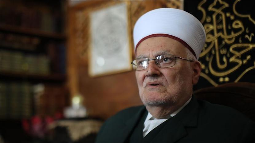 Imam besar Masjid al-Aqsa Syekh Ekrima Sabri.(Mostafa Alkharouf - Anadolu Agency )