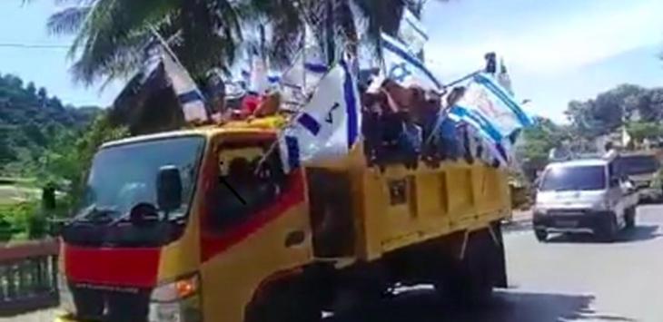 Konvoi pengibaran bendera Israel di Papua