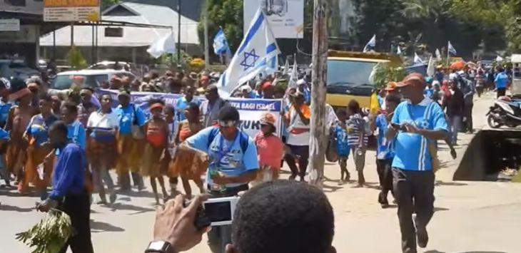 Pendukung Israel di Papua longmarch