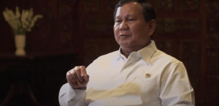 Prabowo Subianto dalam sebuah wawancara eksklusif.