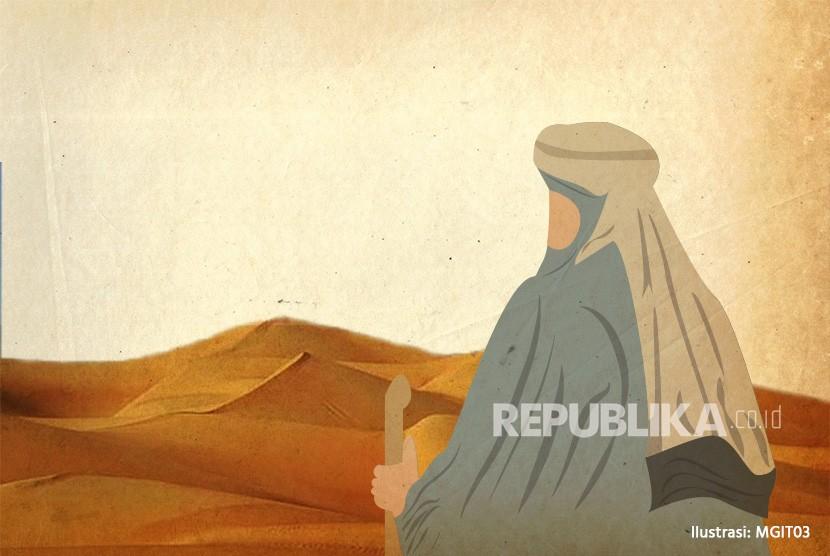 Musailamah pengaku nabi membunuh perlahan Hubaib utusan Rasulullah SAW. Ilustrasi Sahabat Nabi