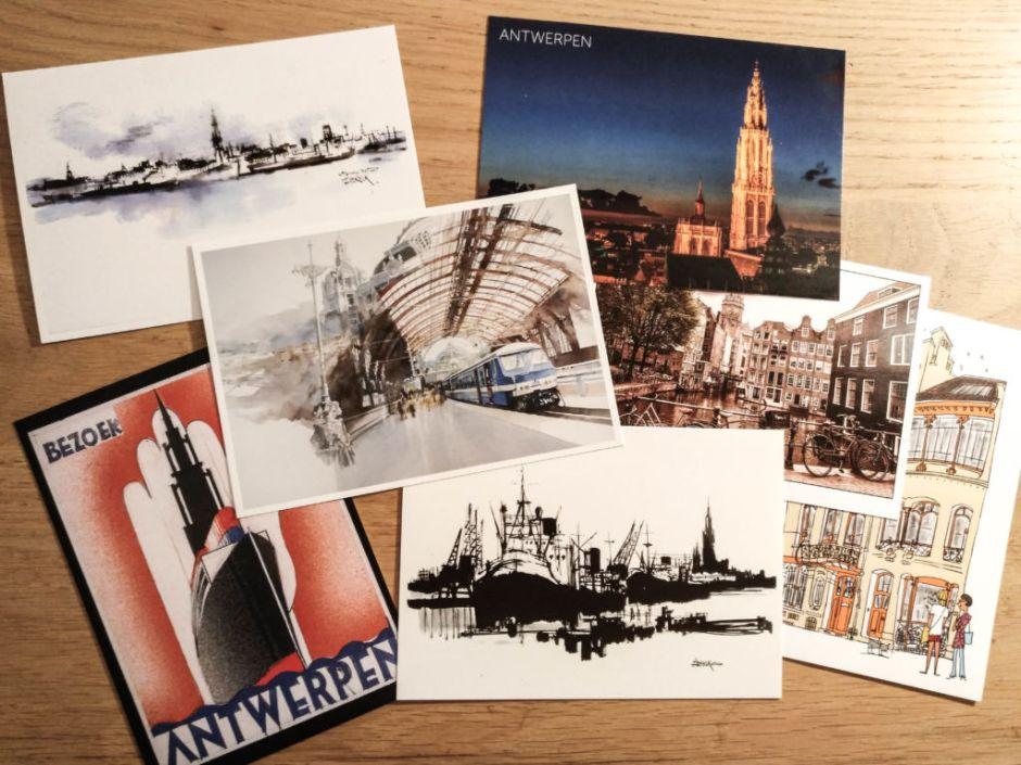 Diferentes postales de Amberes