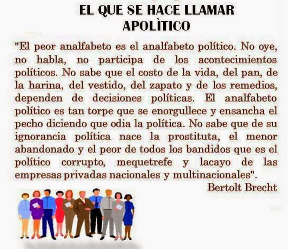 Beltort Brecht, Apolítico