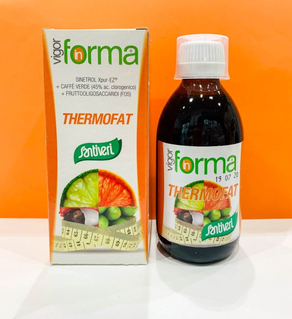 Sciroppo - vigor in forma thermofat - Santiveri | Erboristeria Erbainfusa Como | Shop Online