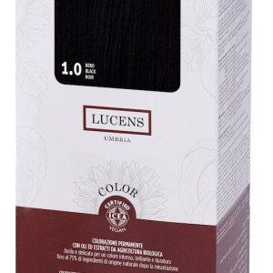 Colore naturale capelli - 1.0 nero - Lucens Umbria | Erboristeria Erbainfusa Como | Shop Online