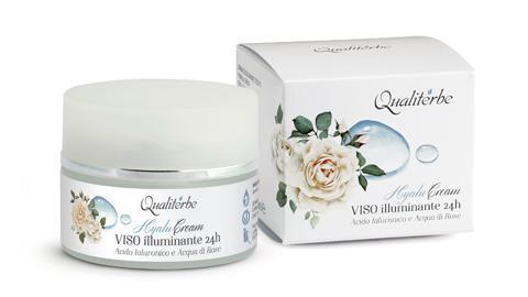 Crema viso illuminante 24 h all'acido ialuronico - Qualiterbe   Erboristeria Erbainfusa Como   Shop Online