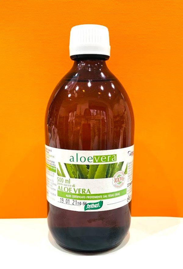 Succo puro aloe vera 500 ml - Santiveri | Erboristeria Erbainfusa Como | Shop Online