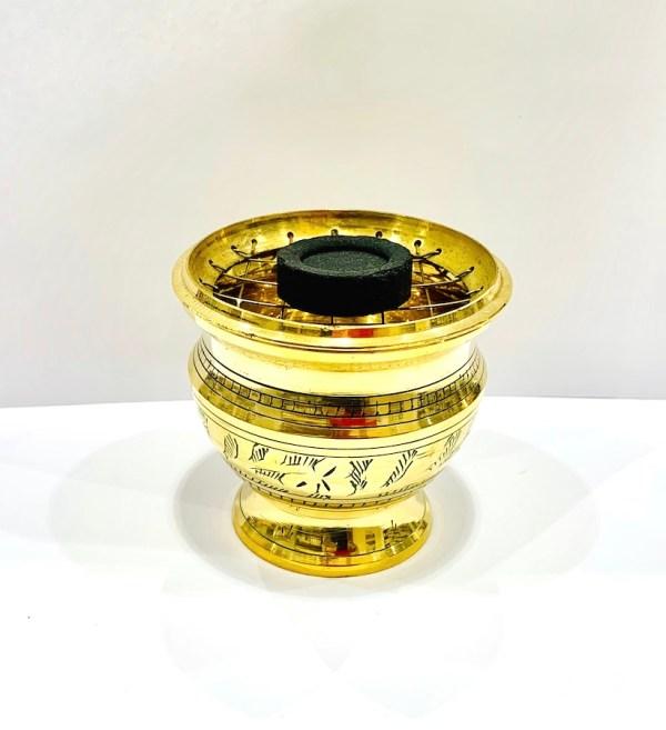 Incensiere in ottone - Dhanvantari | Erboristeria Erbainfusa Como | Shop Online