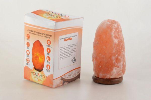 Lampada di sale 2-3 kg (con scatola) impianto elettrico + lampadina 25W - Voganto | Erboristeria Erbainfusa Como | Shop Online