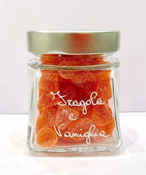 Caramelle morbide in vetro - fragola e vaniglia - Erbainfusa | Erboristeria Erbainfusa Como | Shop Online