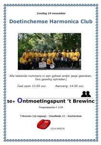 Doetinchemse Harmonica Club in het 50+ Ontmoetingspunt @ 50+ Ontmoetingspunt in 't Brewinc