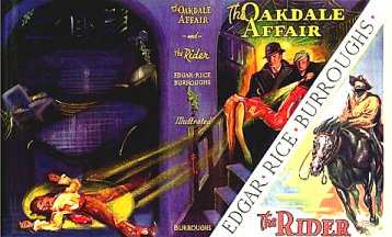 John Coleman Burroughs debut: Oakdale Affair and The Rider - wrap-around DJ -  2 b/w interiors