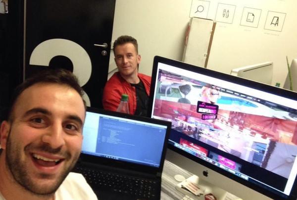 Aldo Gjika dhe Roland Alla (web developer) Frankfurt, Gjermani