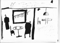 A sketch by Helen Hill of The Florestine Collection