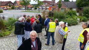 Am Hohenkirchener Bismarckplatz wurden wir von der Arbeitsgruppe begrüßt.