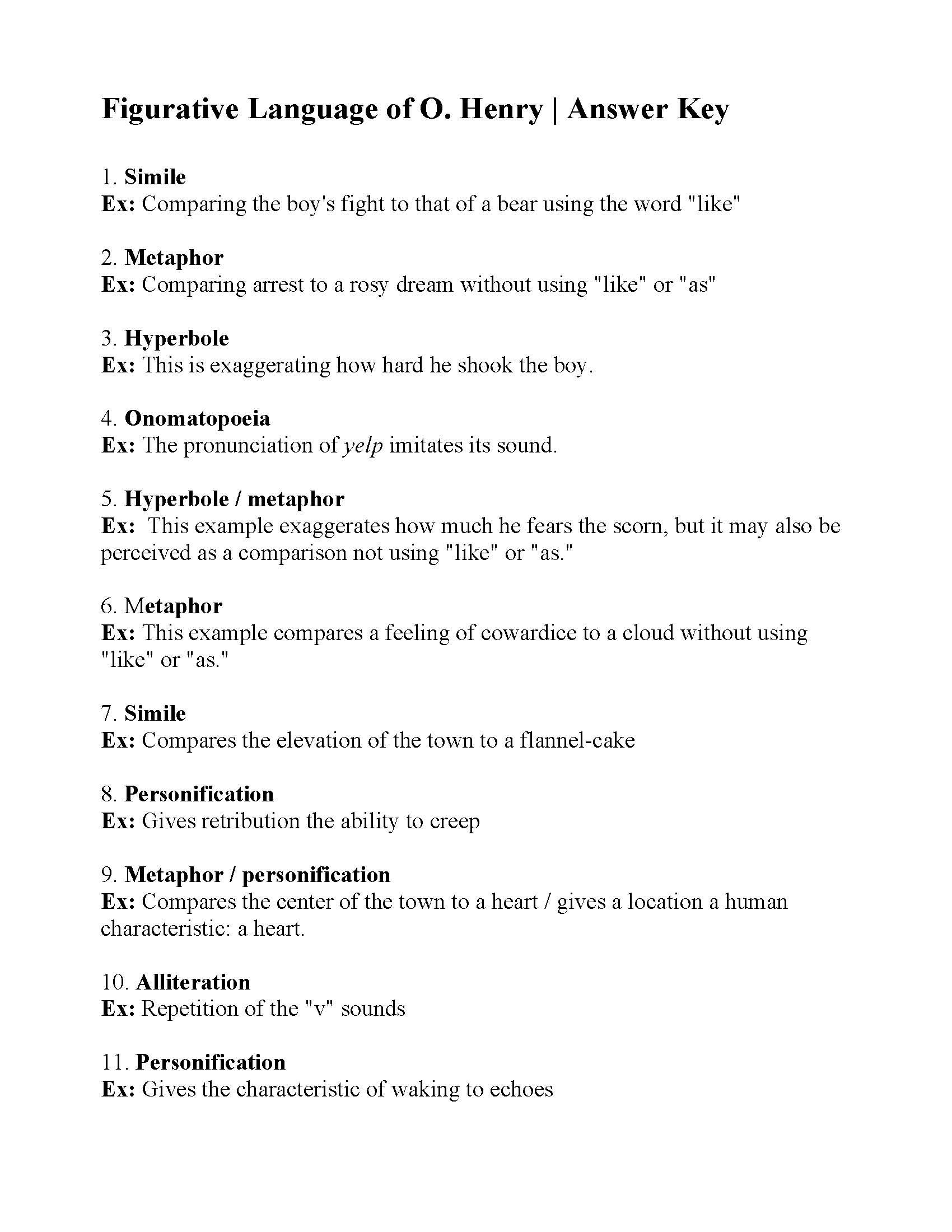 Pun Idiom Worksheet
