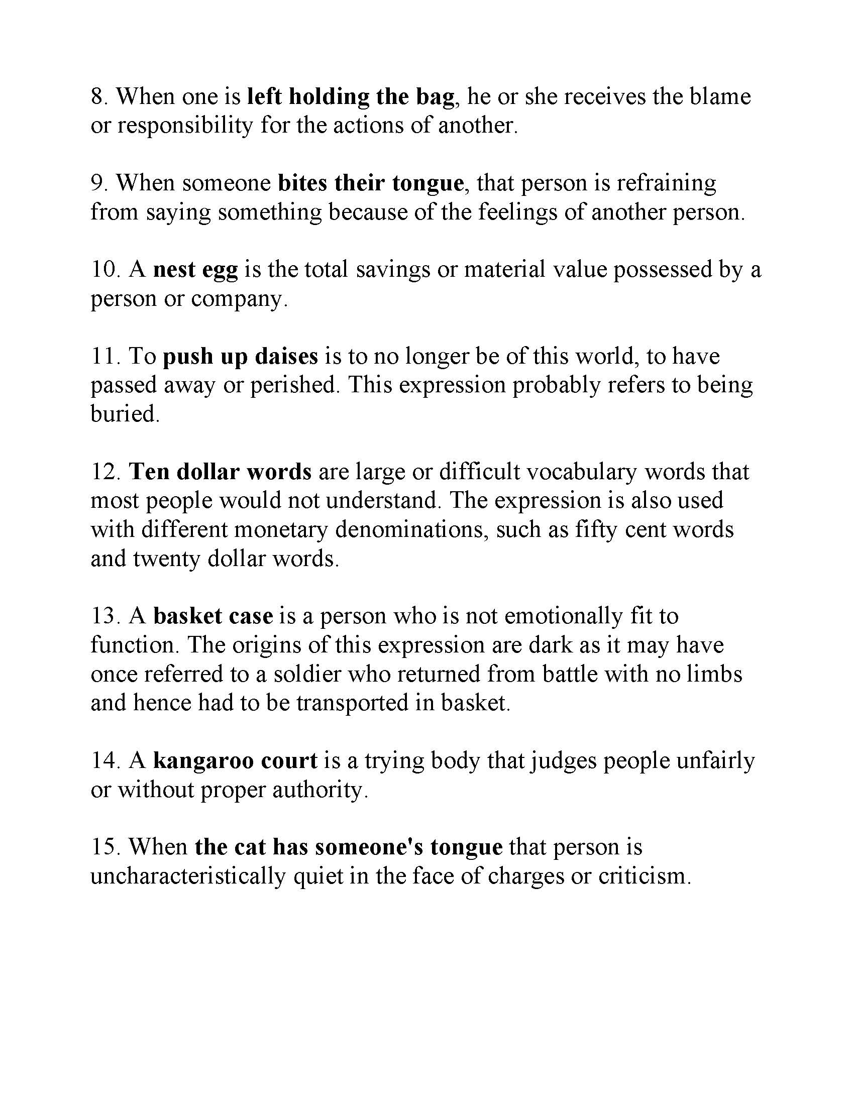 Helpful Idiom Training For The Court Interpreter Written Exam