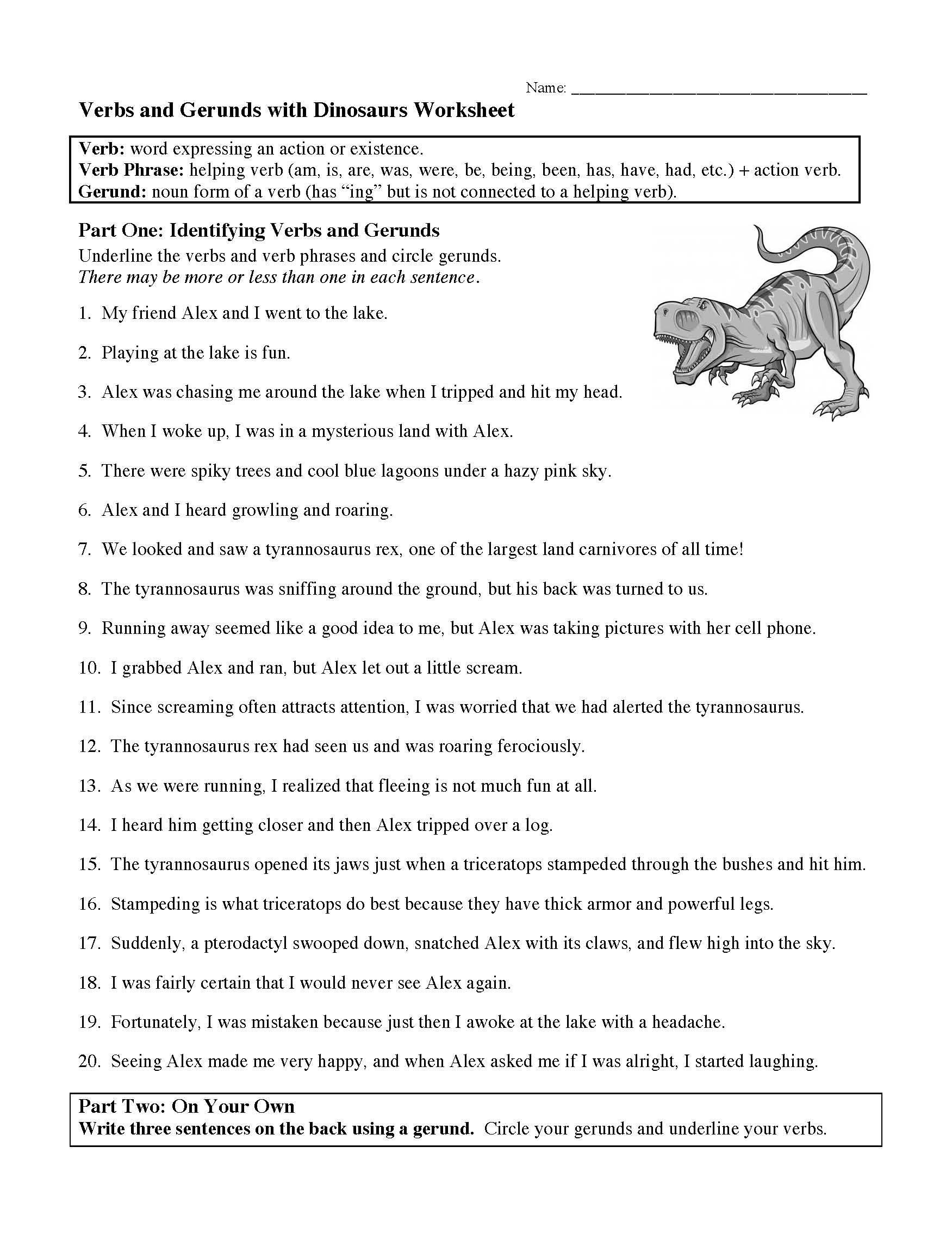 Verbs Verbs Of Being And Gerunds Worksheet
