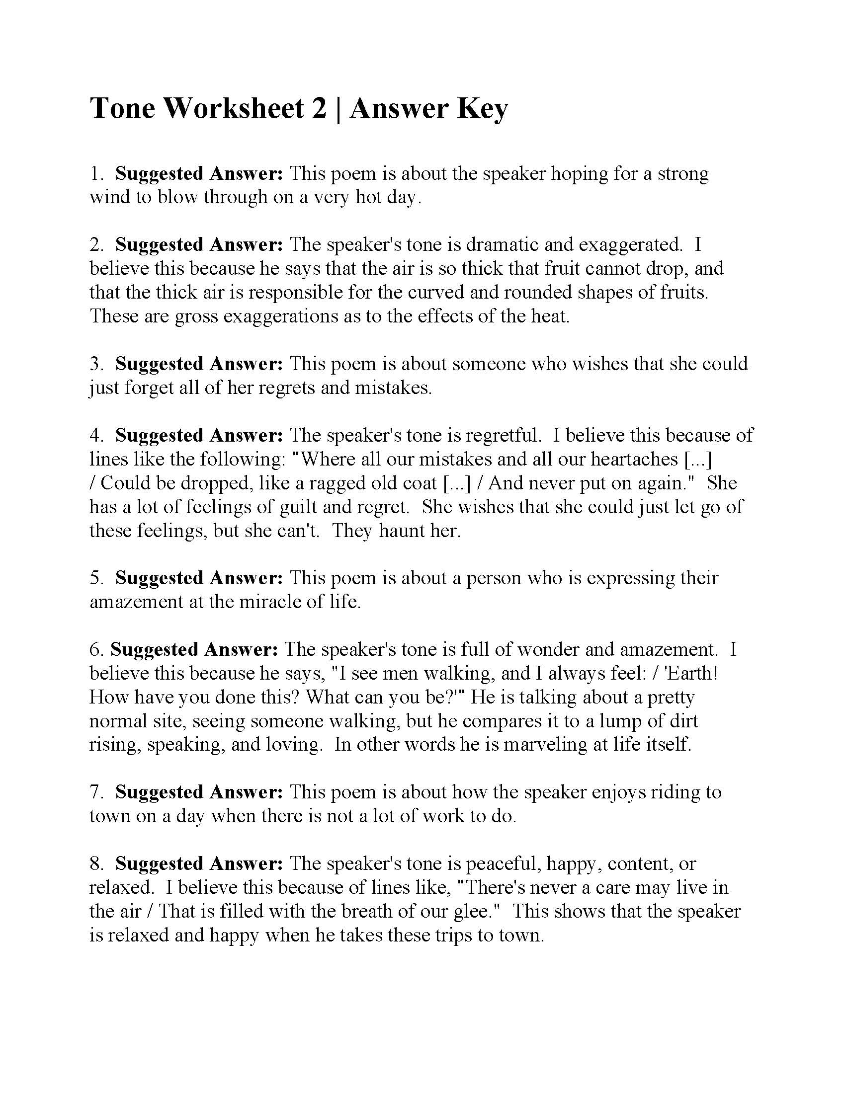 Miracle Of Life Worksheet