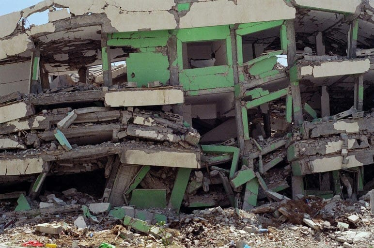 מיקי קרצמן - חאן יונס 1, מתוך הסדרה נופי הכיבוש (התצלום המקורי)