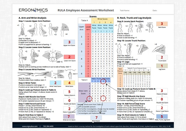 A StepbyStep Guide to the RULA Assessment Tool – Step 10 Worksheet