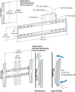 Ergotron 60603003 TM Tilting Wall Mount