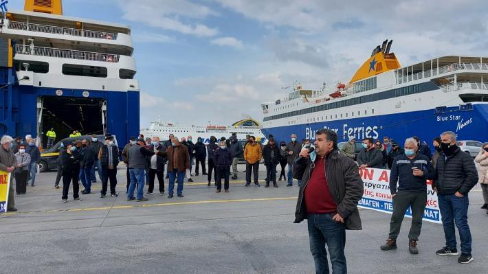 Ναυτεργάτες: Απεργιακή συγκέντρωση στο λιμάνι του Πειραιά