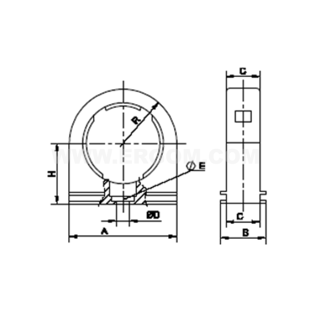 Holder Urop Type For Fixing A Pipe Wte