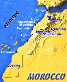 The map of Morocco
