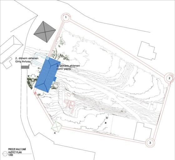 Prevez  Kale Cami vaziyet planı (şekil 9)