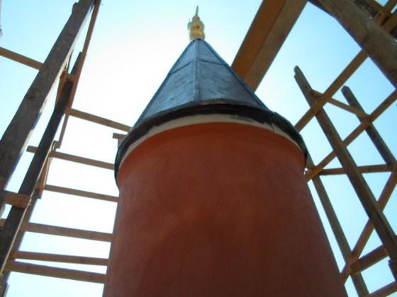 Minarede İnce Sıva Yapımı