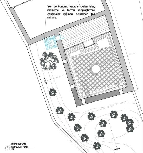 Murad Bey Cami Üst Kat Planı (şekil 8)