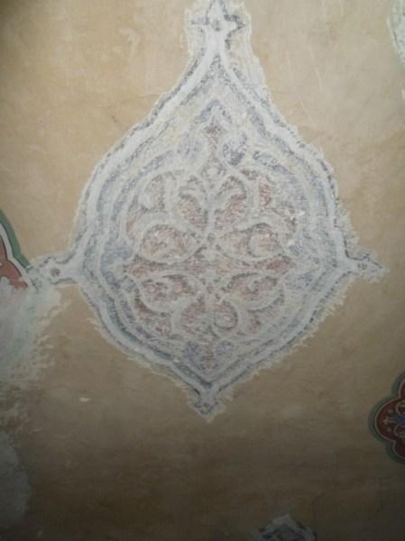 2.dönem kubbe eteğinde uygulanan şemse motifleri