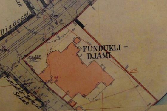 Alman Mavileri 1913-1914 Birinci Dünya Savaşı Öncesi İstanbul Haritaları Cilt II Pafta:F11/3,– Fındıklı Molla Çelebi Cami