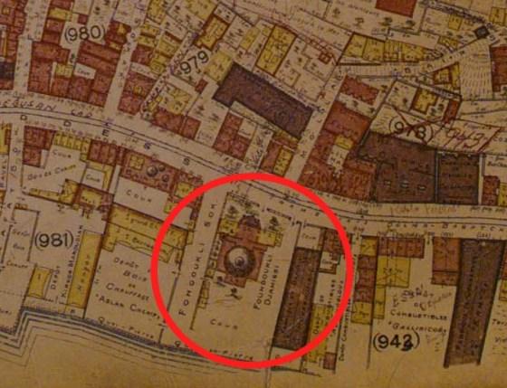 Jacques Pervititch Sigorta Haritalarında İstanbul 1926, s.105 – Molla Çelebi Cami
