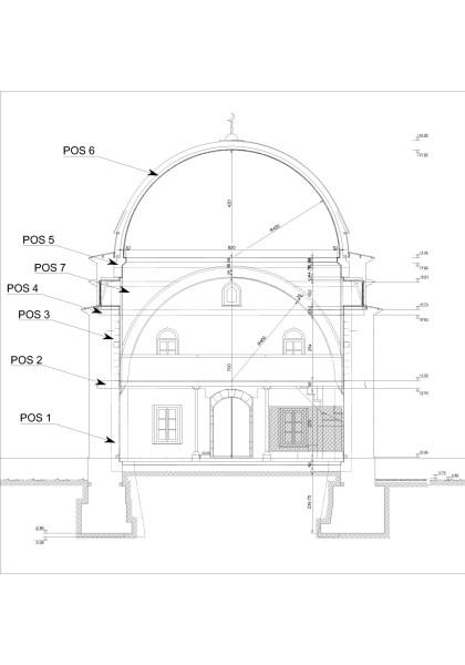 Mkm tarafından hazırlanılan taşıyıcı sistem proje kesitinde yapılacak uygulamalar detay numaraları ile gösterilmiş, detaylar diğer paftalarda verilmiştir. (şekil 3)