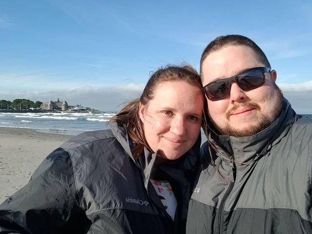 Sara and I at Narragansett beach a few days ago.