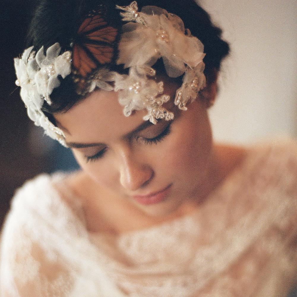 GGrace Alencon Lace Bridal Cap